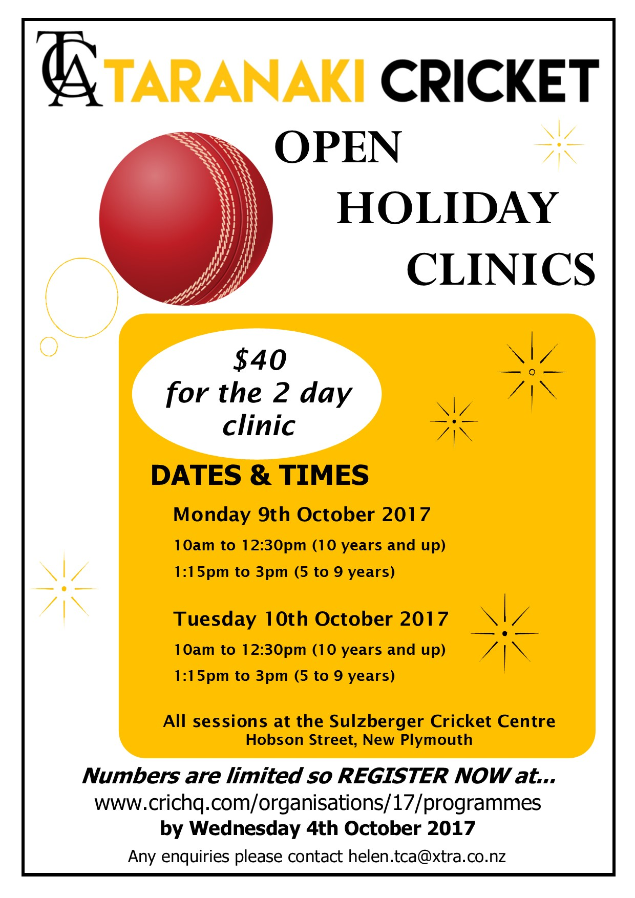 Open Holiday Clinics - October 2017