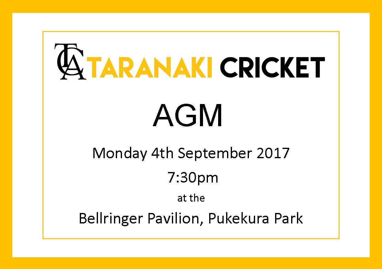 Taranaki Cricket AGM