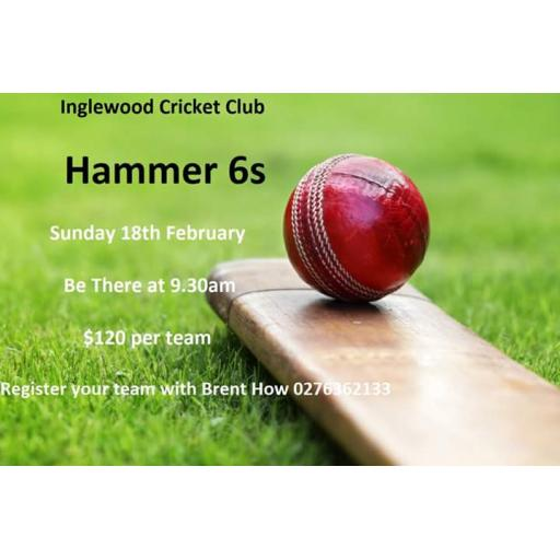 Inglewood Cricket Club - Hammer 6s on Sunday 18th February