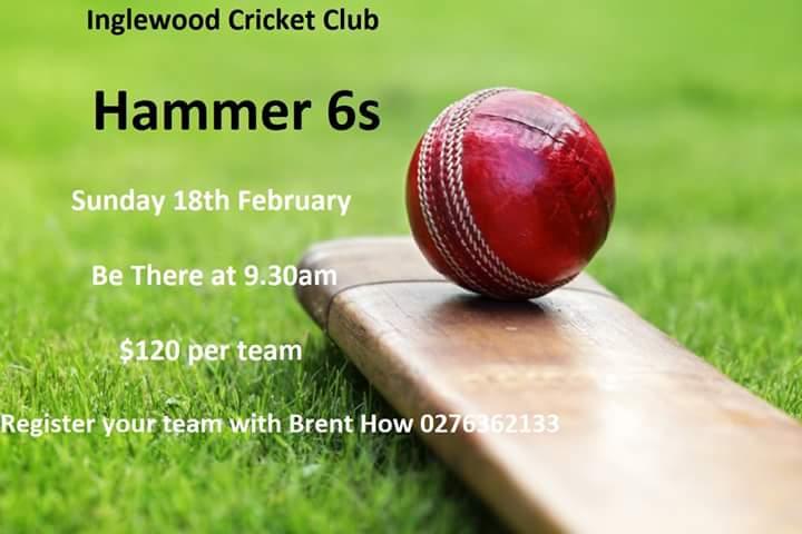 Inglewood Cricket Club - Hammer 6s on Sunday 18th February